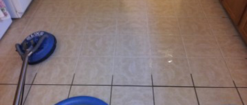 advanced products using to clean grout tile