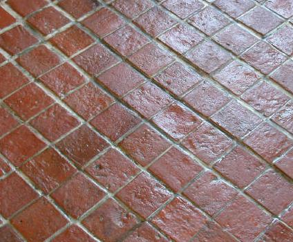 how to clean terracotta tile grout